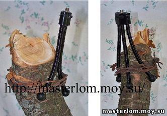 Штатив из деревянных палок, веток