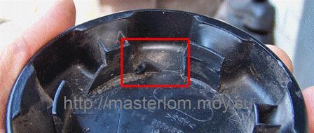 Доработка заводской ручки регулятора спинки сидения - удаление лишней перегородки