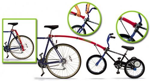 Прицеп для транспортировки детского велосипеда