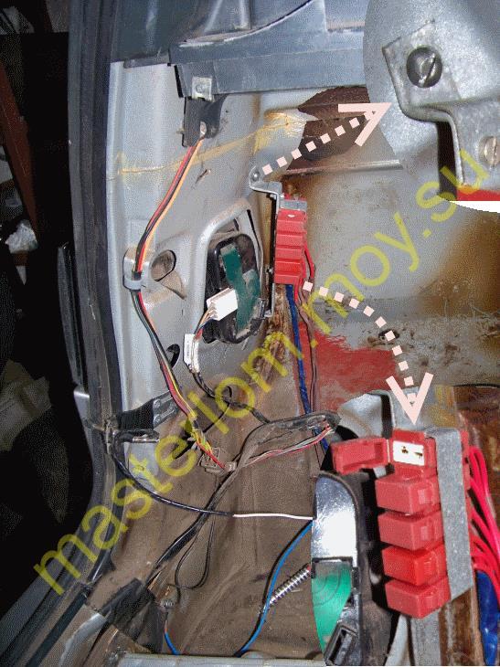 Фаркоп ВАЗ - 21114, расположение колодки с предохранителями, подключение электрической части