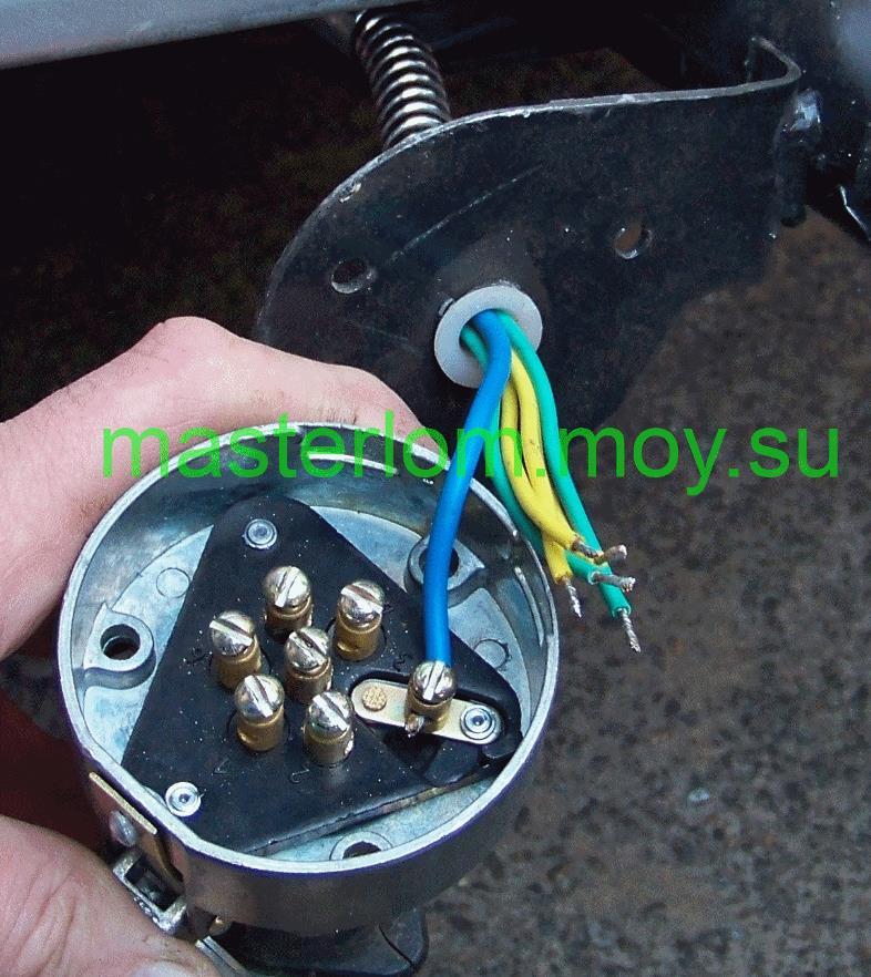 ВАЗ 21114 - разводка проводов розетки фаркопа.