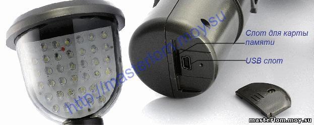 Элементы и устройство автономной мини камеры наблюдения