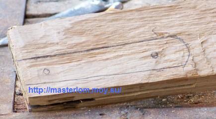 Изготовление деревянной ручки для ножа