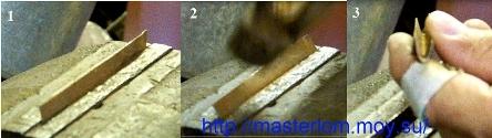 Изготовление желобков для ручки ножа