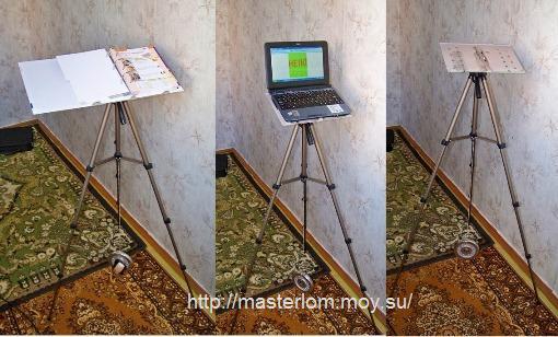 Подставка для ноутбука, пюпитр, тренога tripod