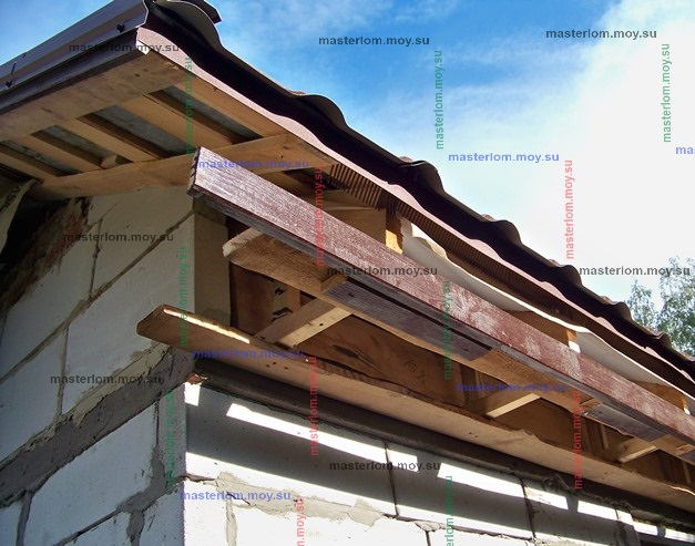 конструкция коробочки и подшивки навеса веранды