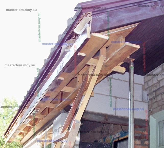 обшивка свесов крышы на веранде