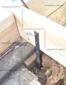 крепление затяжек стропильной системы к стенам