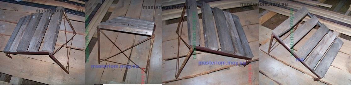 конструкция сьемной скамьи трубочиста