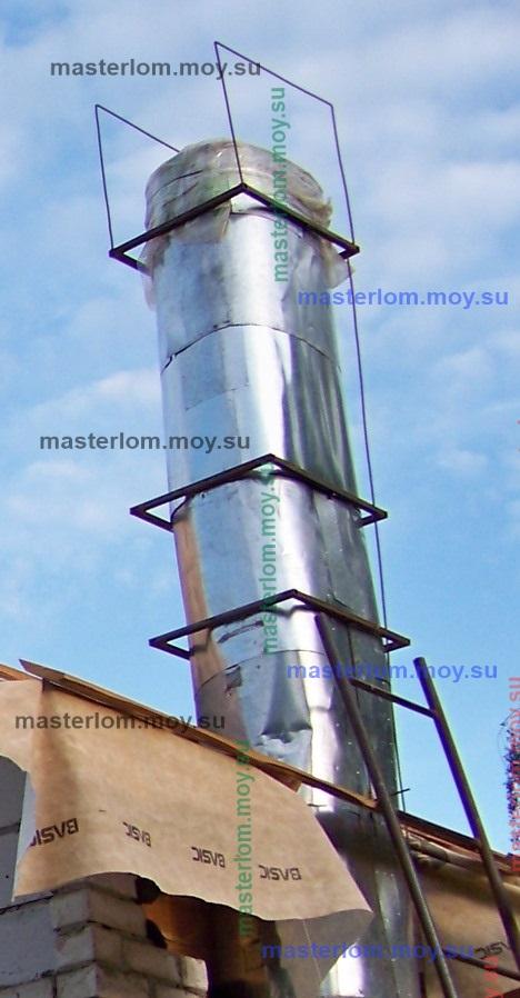 рамки для профнастила на дымоходной трубе