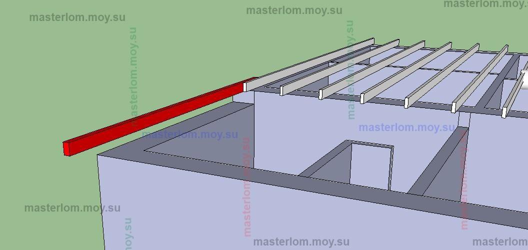 удлинение балок перекрытий-вид справа
