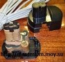Акукумулятор шуруповерта со снятой крышкой