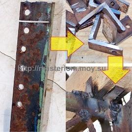 Крепление несущих балок крышы
