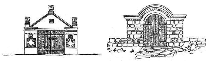 Наземный погреб - украшение входа