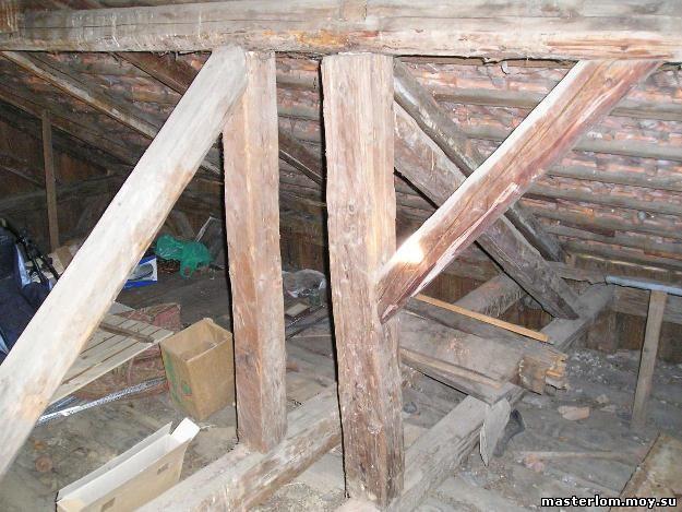 Чердак под крышей