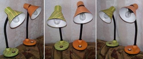 декупаж лампы, светильника