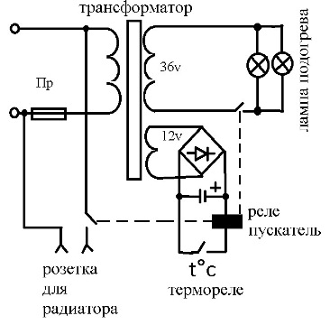принципиальная схема стеклоочистителя