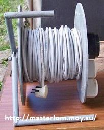 Переноска электрическая на катушке своими руками